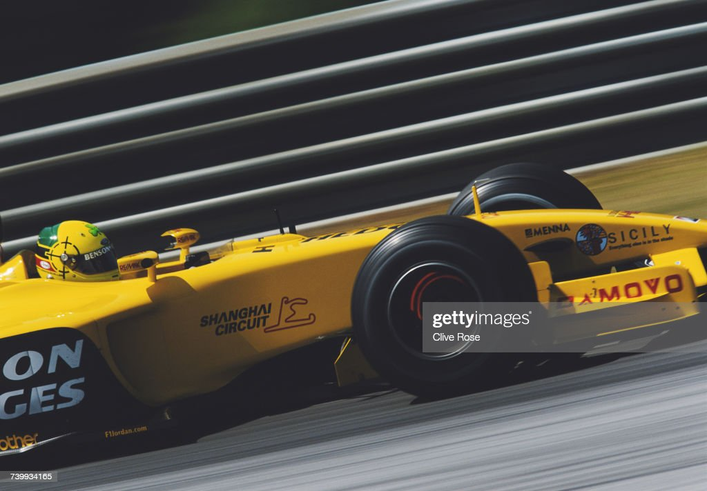 Ralph Firman of Ireland drives the #12 Jordan Grand Prix Jordan EJ13 Ford V10 during the Austrian Grand Prix on 18 May 2003 at the A1 Ring in Spielberg, Austria.