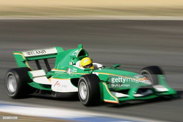 Ralph Firman of Ireland in action during practice for the A1 Grand Prix of Nations at the Circuito Estoril on October 22 2005 in Estoril Portugal