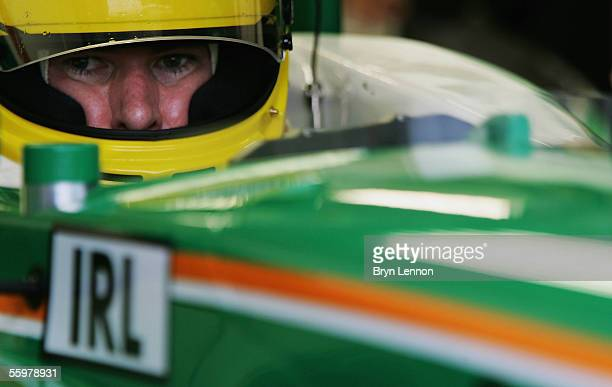 Ralph Firman of Ireland prepares for practice for the A1 Grand Prix of Nations race on October 21 2005 at the Circuito Estoril Portugal