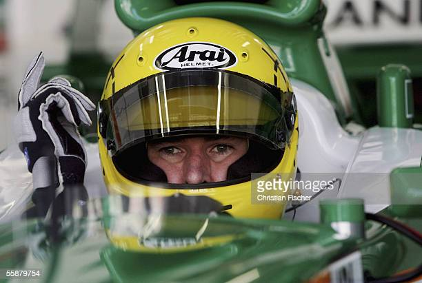Ralph Firman of Team Ireland gestures at the third practice session during the A1 Grand Prix of Nations Germany at the Eurospeedway on October 8 2005...