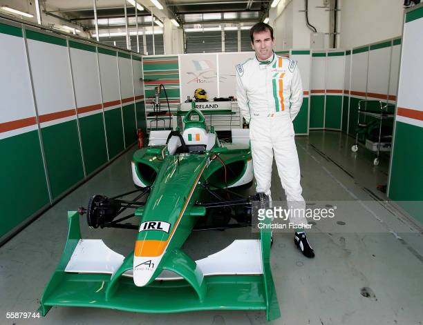 Ralph Firman poses in the pit after the third practice session at the A1 Grand Prix of Nations Germany at the Eurospeedway on October 8 2005 in...