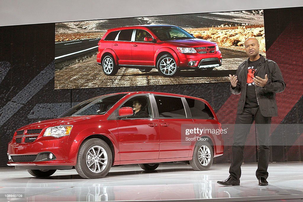 Ralph Gilles, President and CEO of Dodge Brand, introduces the 2012 Caravan R/T at the Chicago Auto Show on February 9, 2011 in Chicago, Illinois. The show opened for media previews today. It is open to the general public February 11.
