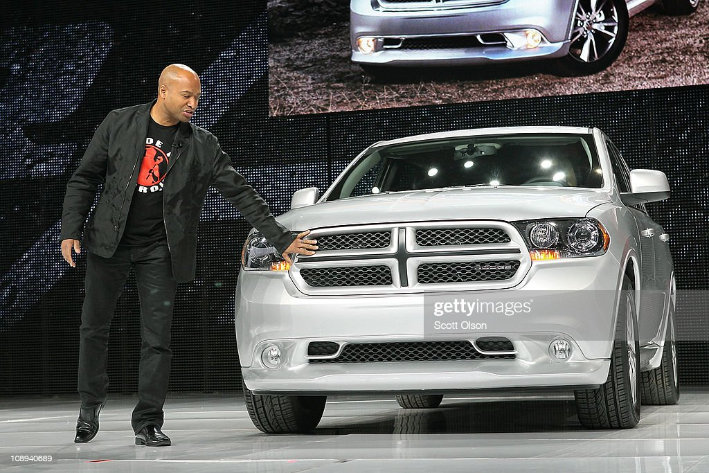 Ralph Gilles, President and CEO of Dodge Brand, introduces the Durango R/T at the Chicago Auto Show on February 9, 2011 in Chicago, Illinois. The show opened for media previews today. It is open to the general public February 11.