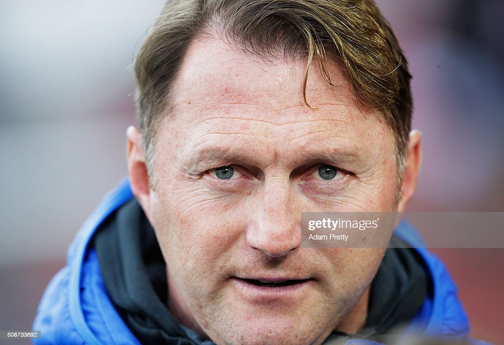 Ralph Hasenhuettl Head Coach of of Ingolstadt 04 before the Bundesliga match between FC Ingolstadt and FC Augsburg at Audi Sportpark on February 6, 2016 in Ingolstadt, Germany.