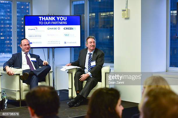 Ralph Herzka and Jonathan Mechanic attend The Commercial Observer Financing Commercial Real Estate at 666 Fifth Avenue on November 15 2016 in New...
