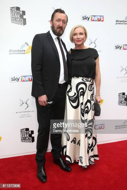 Ralph Ineson and Ali Ineson attending The Southbank Sky Arts Awards 2017 at The Savoy Hotel on July 9 2017 in London England