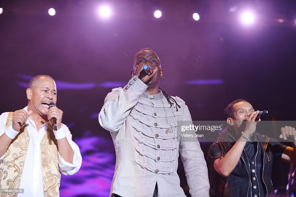 Ralph Johnson and Philip Bailey of Earth, Wind & Fire performs at the 8th Annual Jazz In The Gardens Music Festival - Day 2 at Sun Life Stadium on March 17, 2013 in Miami Gardens, Florida.