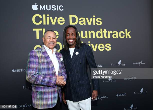 Ralph Johnson and Verdine White attend the Apple Music Los Angeles Premiere Of 'Clive Davis The Soundtrack Of Our Lives' at Pacific Design Center on...
