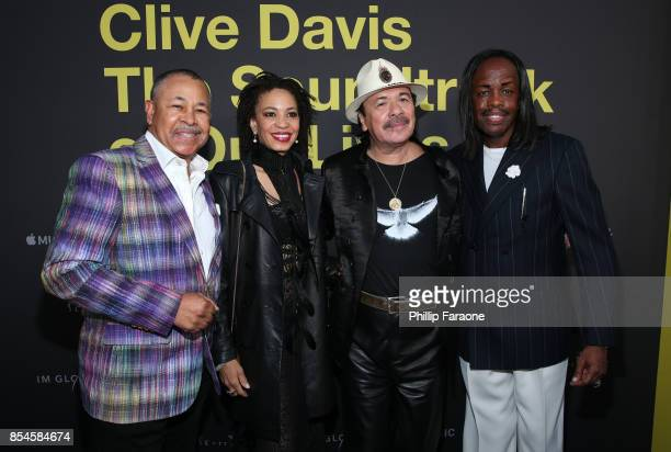 Ralph Johnson Cindy Blackman Carlos Santana and Verdine White attend the Apple Music Los Angeles Premiere Of 'Clive Davis The Soundtrack Of Our...