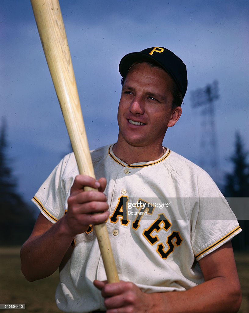 <a gi-track='captionPersonalityLinkClicked' href=/galleries/search?phrase=Ralph+Kiner&family=editorial&specificpeople=242958 ng-click='$event.stopPropagation()'>Ralph Kiner</a> is shown. He started playing with the Pittsburgh Pirates in 1946 and led the league in home runs in his early career.