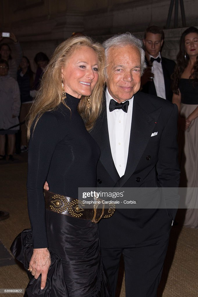 Ralph Lauren and his wife Ricky Lauren arrive at a Ralph Lauren Collection Show and private dinner at Les Beaux-Arts de Paris on October 8, 2013 in Paris, France. On this occasion Ralph Lauren celebrates the restoration project and patron sponsorship of 'L'Ecole des Beaux-Arts'.
