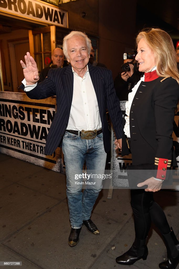 Ralph Lauren and Ricky Lauren attend 'Springsteen On Broadway' at Walter Kerr Theatre on October 12, 2017 in New York City.