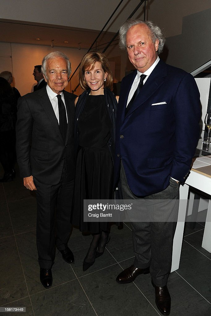 Ralph Lauren, Anna Carter and Graydon Carter host an evening with the cast and producers o the PBS Masterpiece series 'Downton Abbey' on December 10, 2012 in New York City.