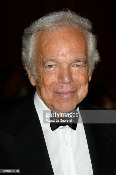 Ralph Lauren arrives at a Ralph lauren Collection Show and private dinner at Les BeauxArts de Paris on October 8 2013 in Paris France On this...