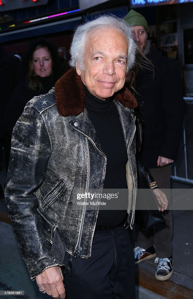 <a gi-track='captionPersonalityLinkClicked' href=/galleries/search?phrase=Ralph+Lauren+-+Fashion+Designer&family=editorial&specificpeople=4442108 ng-click='$event.stopPropagation()'>Ralph Lauren</a> attends the 'Rocky' Broadway Opening Night at Winter Garden Theatre on March 13, 2014 in New York City.