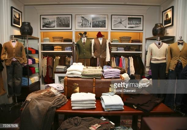 Ralph Lauren Clothes are on display before the the opening of The Ralph Lauren Men's Shop at Saks Fifth Avenue October 24 2006 in New York City