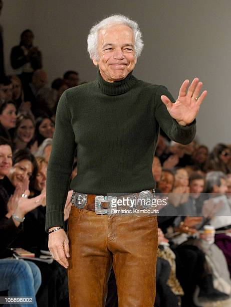 Ralph Lauren designer during Olympus Fashion Week Fall 2006 Ralph Lauren Runway at Skylight Studios in New York City New York United States