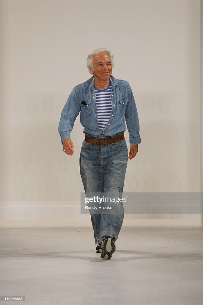<a gi-track='captionPersonalityLinkClicked' href=/galleries/search?phrase=Ralph+Lauren+-+Fashion+Designer&family=editorial&specificpeople=4442108 ng-click='$event.stopPropagation()'>Ralph Lauren</a>, designer during Olympus Fashion Week Spring 2006 - <a gi-track='captionPersonalityLinkClicked' href=/galleries/search?phrase=Ralph+Lauren+-+Fashion+Designer&family=editorial&specificpeople=4442108 ng-click='$event.stopPropagation()'>Ralph Lauren</a> - Runway at The Annex in New York City, New York, United States.