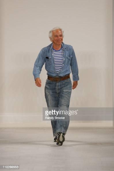 Ralph Lauren designer during Olympus Fashion Week Spring 2006 Ralph Lauren Runway at The Annex in New York City New York United States