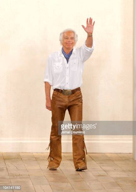 Ralph Lauren walks the runway at the Ralph Lauren Spring 2011 fashion show during MercedesBenz Fashion Week at Skylight Studio on September 16 2010...