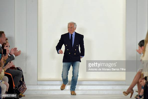 Ralph Lauren walks the runway during the Ralph Lauren show as a part of Spring 2016 New York Fashion Week on September 17 2015 in New York City