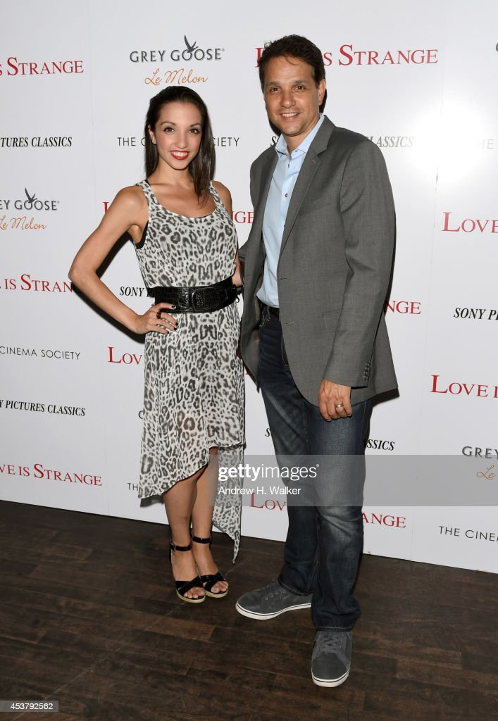 Ralph Macchio (R) and daughter, Julia Macchio attend the Sony Pictures Classics with The Cinema Society & Grey Goose screening of 'Love is Strange' at Tribeca Grand Hotel on August 18, 2014 in New York City.