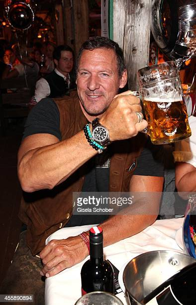 Ralph Moeller attends the 'Almauftrieb' at Kaefer tent during Oktoberfest at Theresienwiese on September 21 2014 in Munich Germany