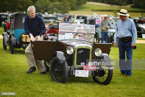 Ralph Montagu son of Lord Montagu at the 50th Austin Seven Rally at the National Motor Museum in Beaulieu Hampshire
