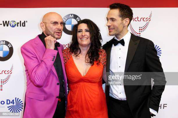 Ralph Morgenstern Sonja Fusati and Alexander Mazza attend the Victress Awards Gala on May 8 2017 in Berlin Germany