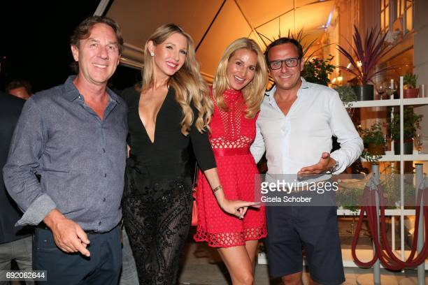 Ralf Piller and his wife Sabine Piller Christian Abt and his wife Sandra Abt during the Zhero hotel and 'Bahia Mediterraneo' restaurant opening on...