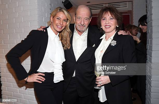 Ralph Siegel and his daughter Giulia Siegel and his ex wife Dunja Siegel during the Smoking Cocktail at Kaefer Atelier on January 26 2016 in Munich...