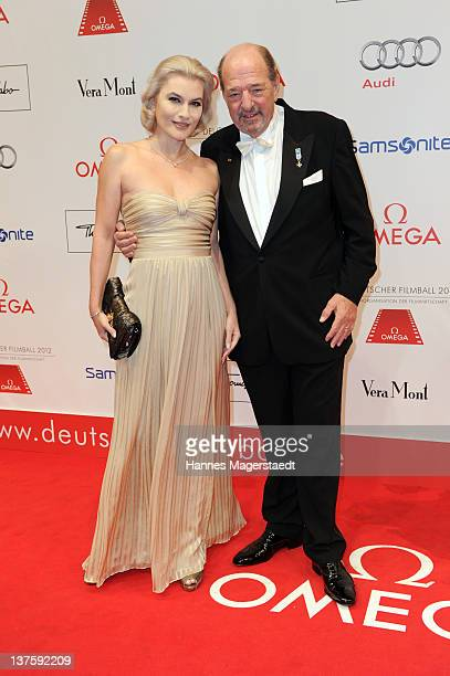 Ralph Siegel and his wife Kriemhild JahnSiegel attend the German Filmball at the Hotel Bayerischer Hof on January 21 2012 in Munich Germany