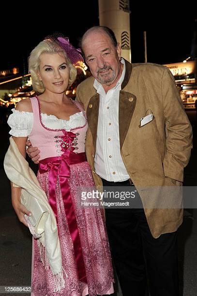 Ralph Siegel and Kriemhild Jahn attend the 'Goldstar TV Wiesn' as part of the Oktoberfest beer festival at Weinzelt beer tent on September 20 2011 in...