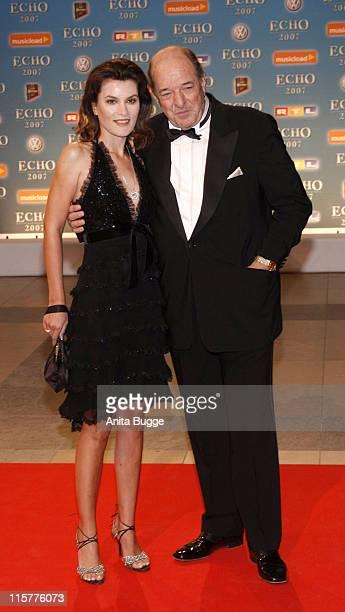 Ralph Siegel and Kriemhild Jahn during 2007 Echo Awards Red Carpet at Palais am Funkturm in Berlin Berlin Germany