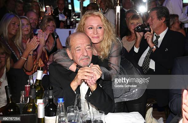 Ralph Siegel and Nicole Seibert during Ralph Siegel's 70th birthday party at Schuhbeck's Teatro on September 30 2015 in Munich Germany