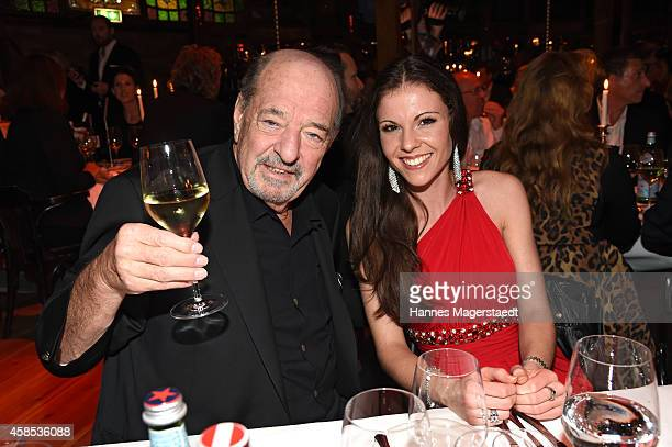 Ralph Siegel and singer Kelly Preston attend the Premiere Schuhbecks Teatro on November 6 2014 in Munich Germany