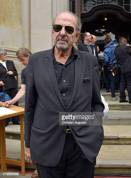 Ralph Siegel attends the funeral service for the deceased composer and big band leader James Last at St Michaelis Kirche on July 8 2015 in Hamburg...