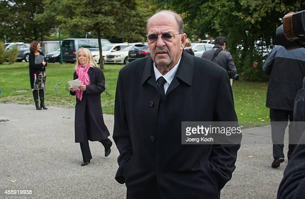 Ralph Siegel goes to the commemoration for Joachim Fuchsberger on September 22 2014 in Gruenwald near Munich Germany
