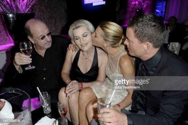Ralph Siegel Kriemhild JahnSiegel Giulia Siegel and Frank Buechtmann attend the Movie Meets Media Party during the Munich Film Festival at P1 on July...