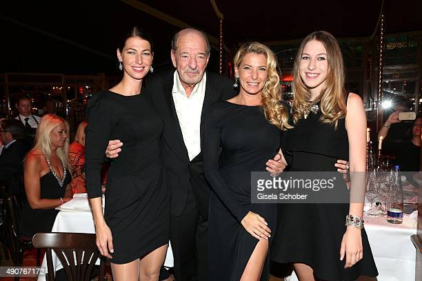 Ralph Siegel with his daughters Marcella Siegel Giulia Siegel and Alana Siegel during Ralph Siegel's 70th birthday party at Schuhbeck's Teatro on...