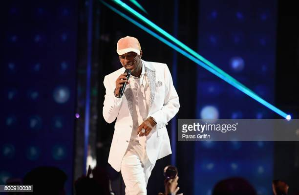 Ralph Tresvant of New Edition performs onstage at 2017 BET Awards at Microsoft Theater on June 25 2017 in Los Angeles California