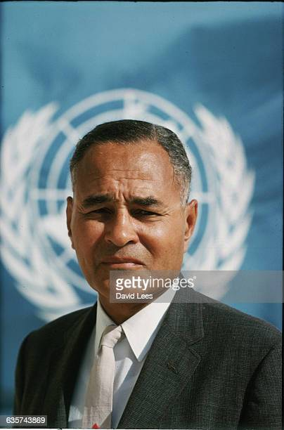 Ralphe Johnson Bunche an American political scientist Freedom medal winner government advisor United Nations mediator Nobel peace prize winner and...