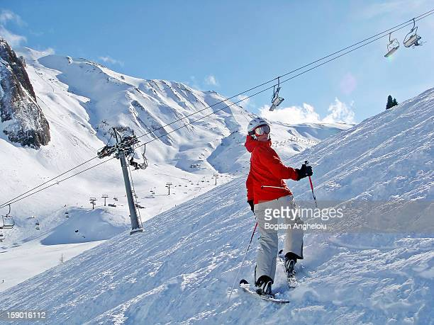 Raluca on the slope