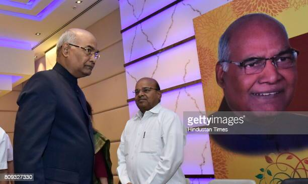 Ram Nath Kovind the presidential election candidate of NDA during a meeting with MP MLA and MLCs at a city hotel on July 5 2017 in Bengaluru India