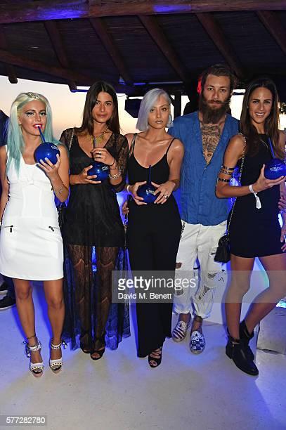 Rama Lila Marsica Fossati Petra Anton Andrea Marcaccini and Brina Knauss attend the CIROC On Arrival party in Ibiza hotspot Destino as model and DJ...