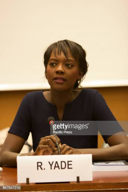 Rama Yade Former French Secretary of State for Human Rights Human Rights experts and personalities in a conference on September 13 at the 36th...