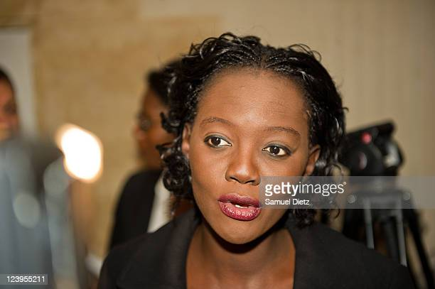 Rama Yade is interviewed at the launch of association 'O comme Oxygene' at La Cours du Marais on September 6 2011 in Paris France Former minister of...