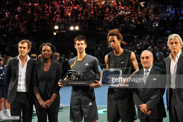 Rama YADE / Novak DJOKOVIC / Gael MONFILS Finale du BNP Paribas Masters 1000 Paris Bercy Photo Dave Winter / Icon Sport