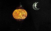 Ramadan lamp.Arabian lantern.Moon month