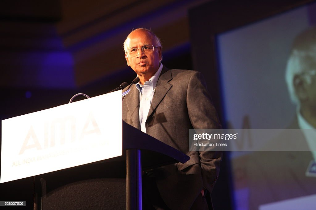S Ramadorai, Chairman of National Skill Development Agency (NSDA) in the rank of a Cabinet Minister and Chairman of National Skill Development Corporation (NSDC), during the All India Management Association (AIMA)s Managing India Awards 2016 at Hotel Taj Palace in New Delhi, India.